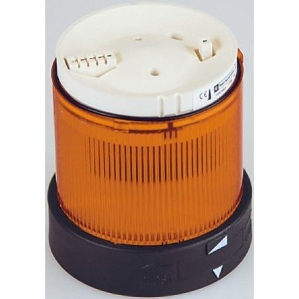 Schneider XVBC4M5 Beacon Unit, Orange Incandescent / LED, Flashing Light Effect, 230 V ac