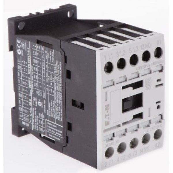 Eaton DILM12-10(400V50HZ440V60HZ) 3 Pole Contactor 3NO, 12 A, 5.5 kW, 400 V ac Coil