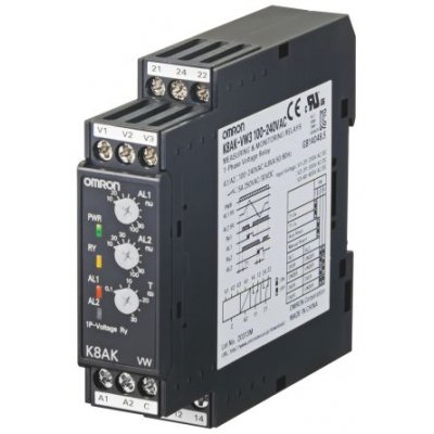 Omron K8AK-AS2 24VAC/DC Current Monitoring Relay with SPDT