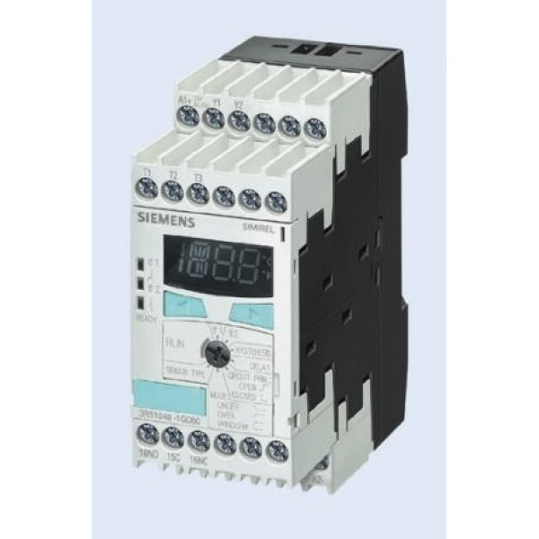 Siemens 3RS11401GW60 Temperature Monitoring Relay with SPST Contacts, 24-240 V ac/dc