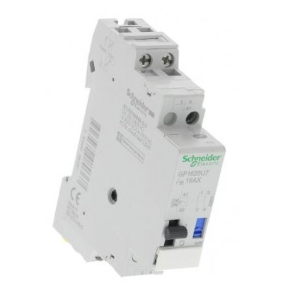 Schneider GF1620U7 2P Impulse Relay with NO Contacts, 16 A, 110 V dc, 230 → 240 V ac Coil