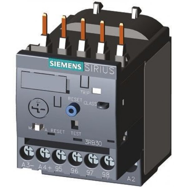Siemens 3RB3016-1NB0 Solid State Overload Relay NO/NC, 0.32 → 1.25 A, 1.25 A, 0.37 kW