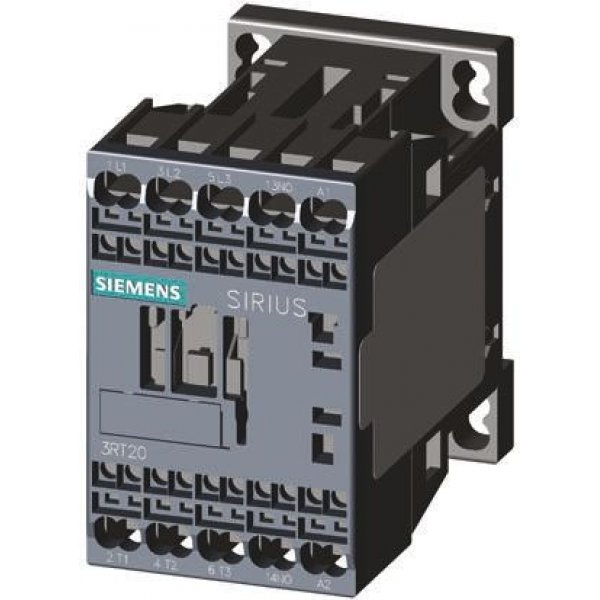 Siemens 3RT2025-2BB40 3 Pole Contactor, 3NO, 16 A, 7.5 kW (AC3), 24 V dc Coil