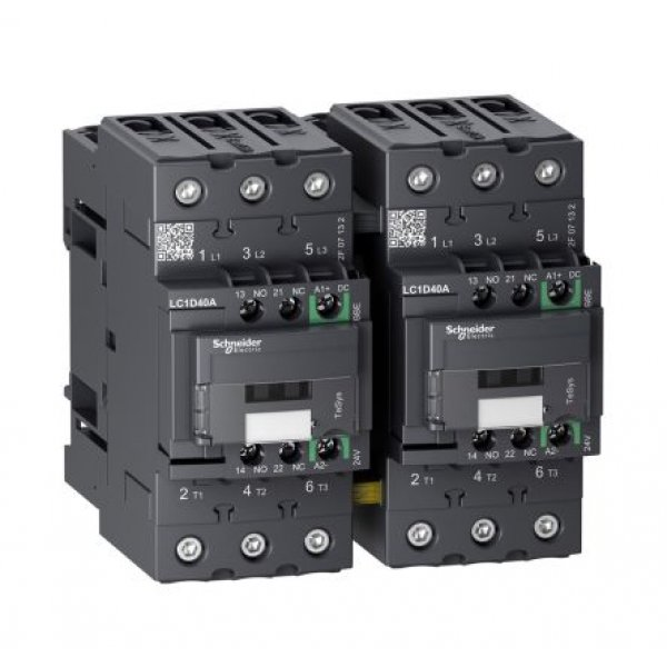 Schneider Electric LC2D40A3RD 3 Pole Contactor, 30 kW, 440 V dc Coil
