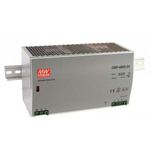 Mean Well DRP-480S-24 DRP Switch Mode DIN Rail Panel Mount Power Supply, 480W, 24V dc/ 20A