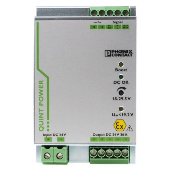 Phoenix Contact 2320568 DIN Rail Power Supply, 29.5V dc/ 20A