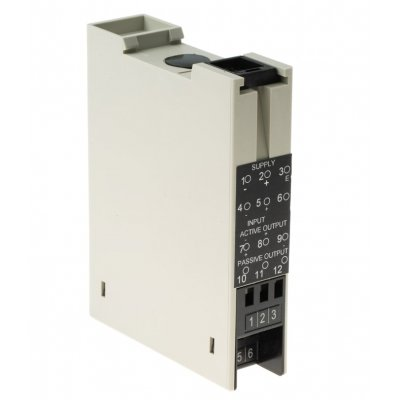 RS PRO 466-2258 RS PRO Isolating Signal Converter Signal Conditioner, Analogue 4 → 20 mA Input, 0 → 10 V Output