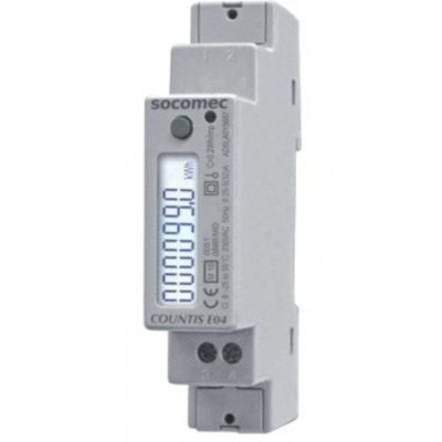 Socomec 48503039 1 Phase LCD Digital Power Meter with Pulse Output