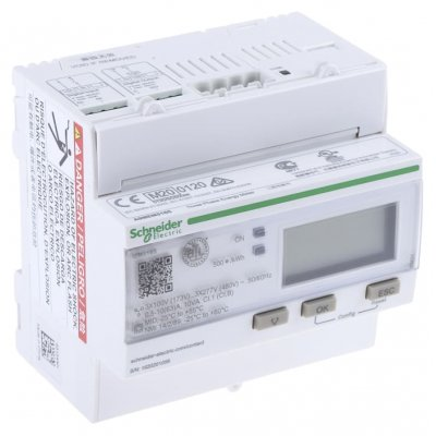 Schneider Electric A9MEM3165 3 Phase LCD Digital Power Meter with Pulse Output