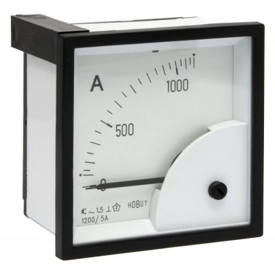HOBUT D72SD5A/0-1200A Analogue Panel Ammeter 0/1200A For 1200/5A CT AC