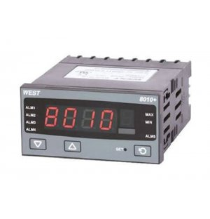 West Instruments P8010-1100-0210 PID Temperature Controller 1 Output Relay, 24 → 48 V ac/dc Supply