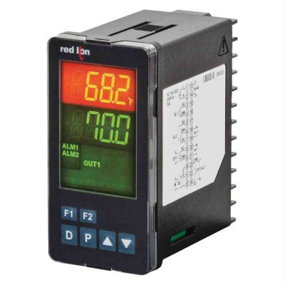 Red Lion PXU31A30 Panel Mount PID Temperature Controller 2 Input, 2 Output 4-20 mA, Relay