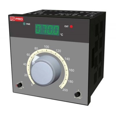 RS PRO 198-1176 On/Off Temperature Controller 1 Input, 2 Output Analogue Relay, 230 V ac