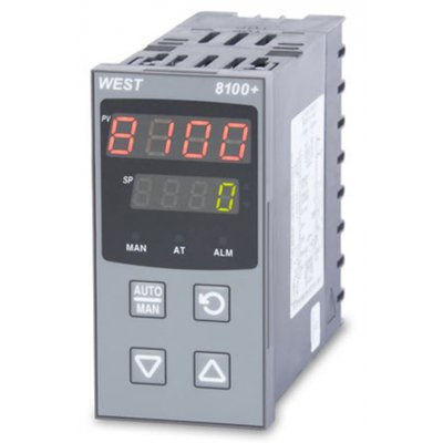 West Instruments P8100-2-2-1-1-0-0-2-0 PID Temperature Controller 1 Input, 3 Output Relay, SSR