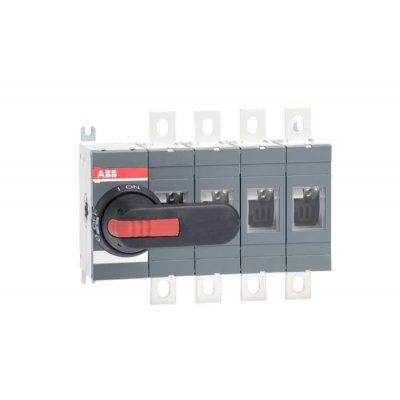 ABB 4 Pole Non-Fused Switch Disconnector - 400 A Maximum Current, 400 kW Power Rating, IP00, IP65