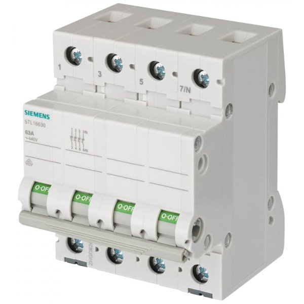 Siemens 5TL1691-0  3 Pole Non Fused Isolator Switch - 100A Maximum Current