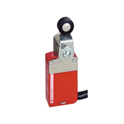 Preventa XCSM Safety Limit Switch With Roller Plunger Actuator, Zamak, 2NC/1NO