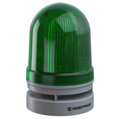Werma 46121060 Werma EvoSIGNAL Midi Sounder Beacon Green LED, 115 → 230 V ac