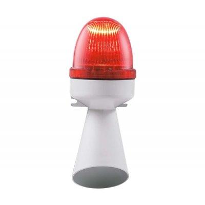RS PRO 199-9740 Buzzer Beacon Red LED, 240 V