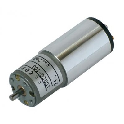 Copal Electronics LC22G-103 1/25 DC Geared Motor 24Vdc 234rpm