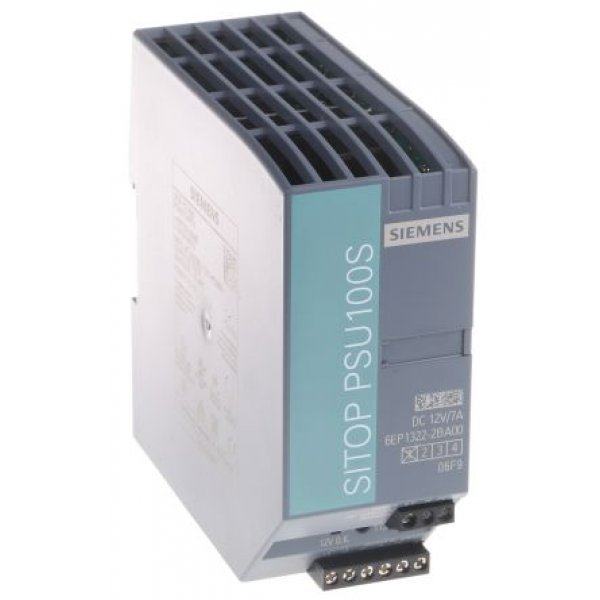 Siemens 6EP1322-2BA00 DIN Rail Panel Mount Power Supply 84W 12V 7A
