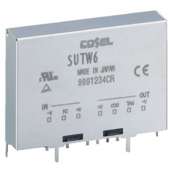 Cosel SUTW61212 Isolated DC-DC Converter Through Hole 9-18Vin ±12Vout