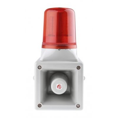 e2s AB105LDAAC230G/R Sounder Beacon 112dB Red LED 230 V ac