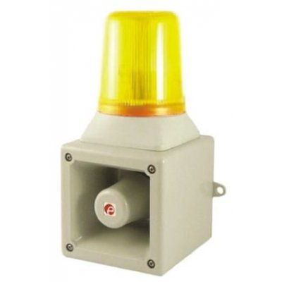 e2s AB105LDADC24G/A Sounder Beacon 112dB Amber LED 24 V dc