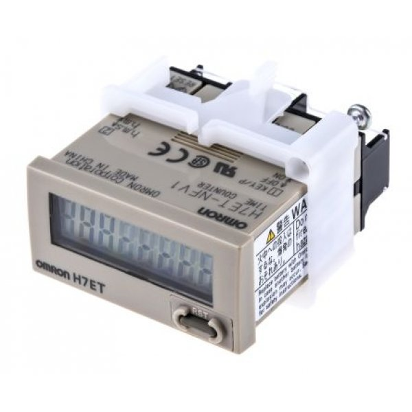 Omron H7ET-NV1-BH Hour Counter 7 digits LCD 24Vdc