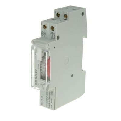 Muller VS 14.18 Analogue DIN Rail Switch Measures Minutes 230 Vac