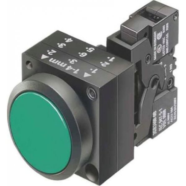 Siemens 3SB3220-0AA41 Green Push Button NO Momentary